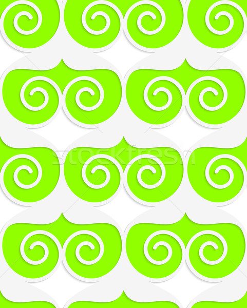 Colored 3D green swirled hearts Stock photo © Zebra-Finch