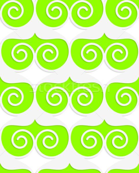 Renkli 3D yeşil kalpler geometrik modern Stok fotoğraf © Zebra-Finch