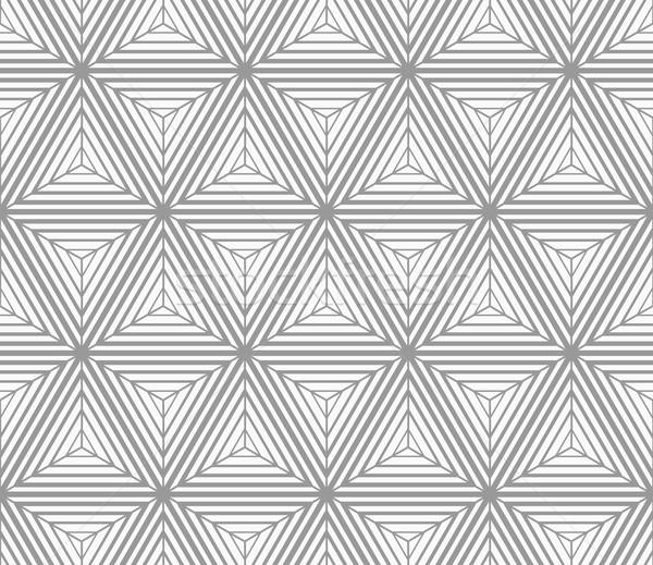 Tek renkli çizgili geometrik desen gri Stok fotoğraf © Zebra-Finch