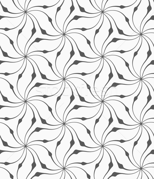 Gris floral monocromo resumen geométrico patrón Foto stock © Zebra-Finch