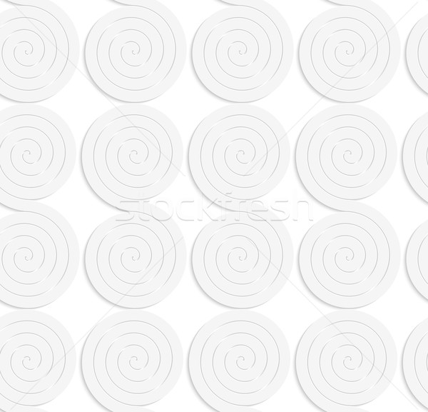 Paper white solid merging spirals Stock photo © Zebra-Finch