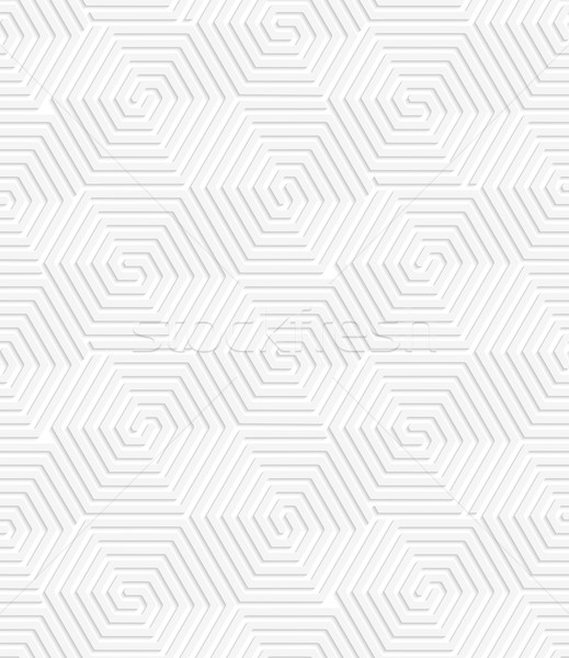 Fehér papír 3D spirál kapcsolódik mértani Stock fotó © Zebra-Finch