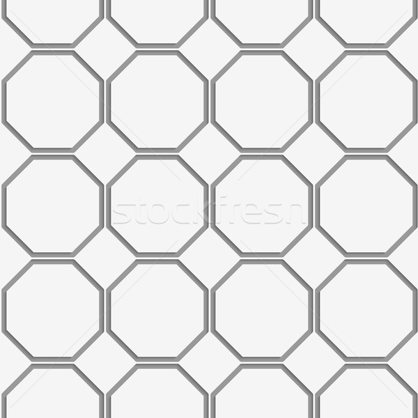 Perforated octagons in row Stock photo © Zebra-Finch