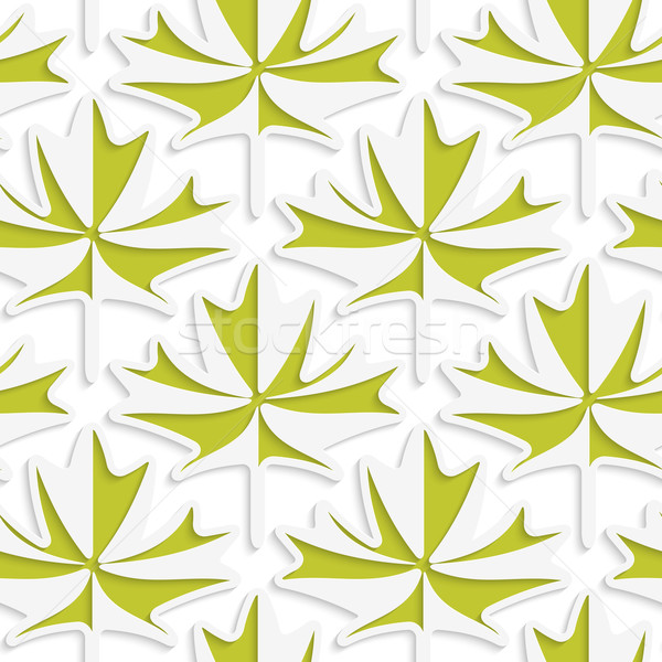 White 3D with colors green maple leaves Stock photo © Zebra-Finch