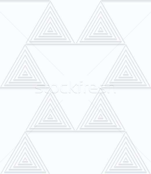 Quilling white paper small triangles with offset Stock photo © Zebra-Finch