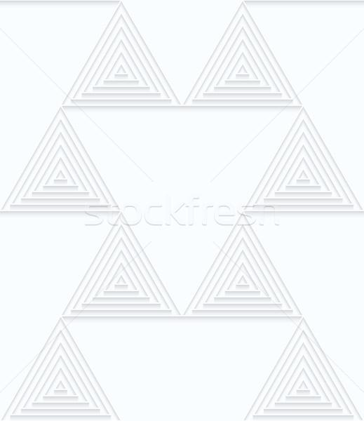 Biały papieru mały geometryczny 3D Zdjęcia stock © Zebra-Finch