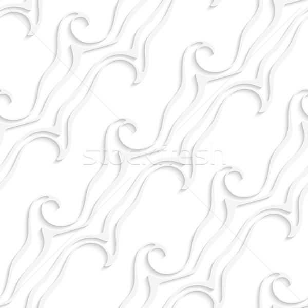 Blanche rayé lignes tourbillons résumé Photo stock © Zebra-Finch