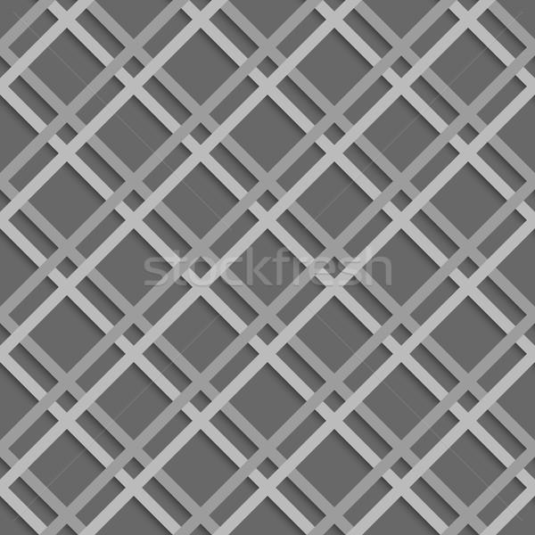 Geometrical pattern with white beveled lattice net Stock photo © Zebra-Finch