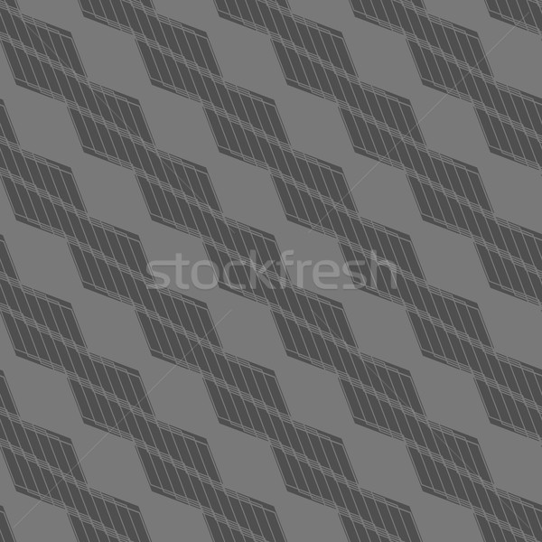 Monochrome pattern with striped black braids Stock photo © Zebra-Finch