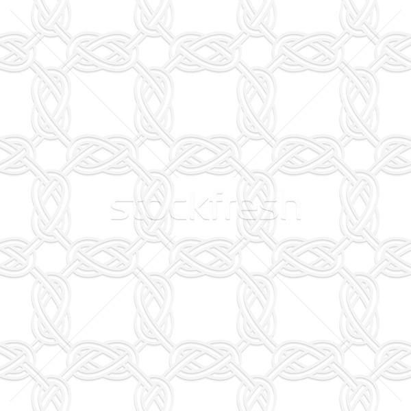 3D square interlocking ornament Stock photo © Zebra-Finch