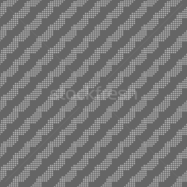 Monochrome pattern with gray dotted diagonal lines Stock photo © Zebra-Finch