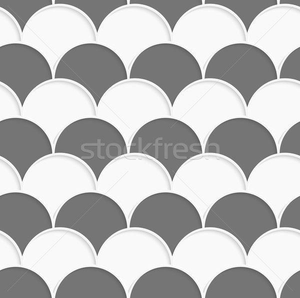 3D white and gray overlapping half circles in rows Stock photo © Zebra-Finch