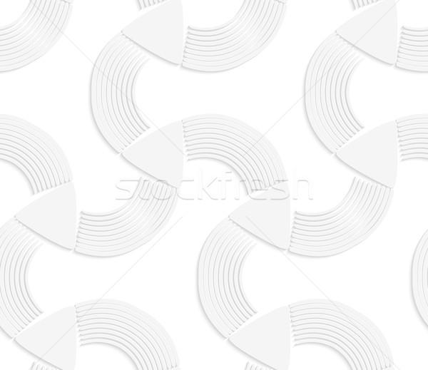 3D beyaz çizgili geometrik desen gerçekçi Stok fotoğraf © Zebra-Finch