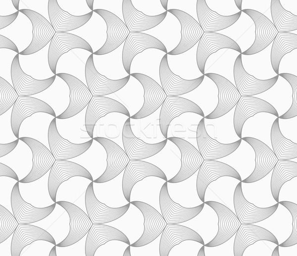Slim gray striped double pointy trefoils Stock photo © Zebra-Finch