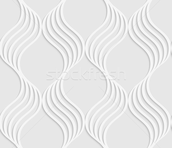 Paper cut out wavy leaves forming grid Stock photo © Zebra-Finch