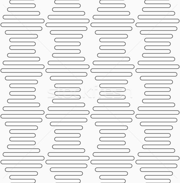 Slim gray vertical hexagonal waves  Stock photo © Zebra-Finch
