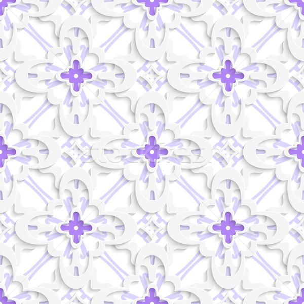 Pattern bianco viola abstract 3D Foto d'archivio © Zebra-Finch