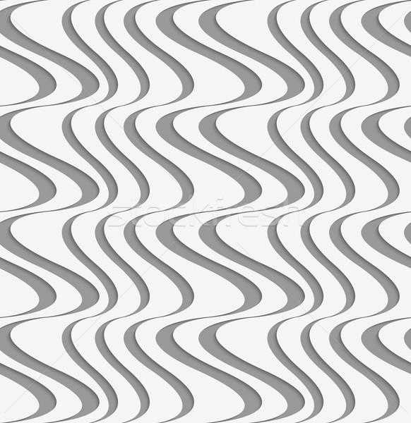 Kâğıt dikey dengesiz dalgalar şık 3D Stok fotoğraf © Zebra-Finch