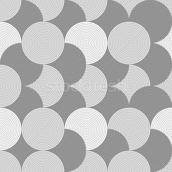 Slim gray striped overlapped circles Stock photo © Zebra-Finch