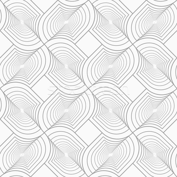 スリム グレー ターン スタイリッシュ 幾何学的な ストックフォト © Zebra-Finch