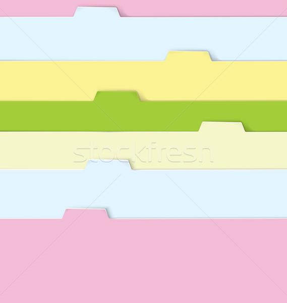 Színes mappák valósághű papír iroda háttér Stock fotó © Zebra-Finch