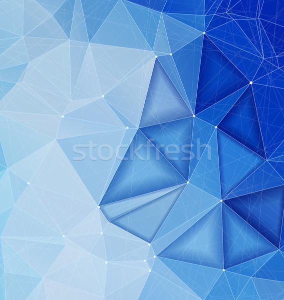 Kék absztrakt háttér vonalak formák copy space Stock fotó © Zebra-Finch