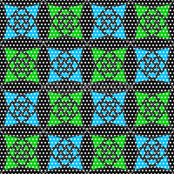 Geometryczne arabski ozdoba tekstury niebieski zielone Zdjęcia stock © Zebra-Finch