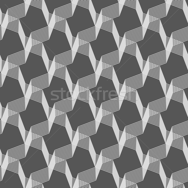 Monochrome pattern with gray intersecting thin lines on gray Stock photo © Zebra-Finch