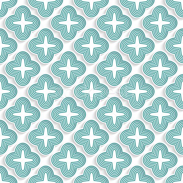 3D 緑 縞模様の 4 幾何学的な ストックフォト © Zebra-Finch