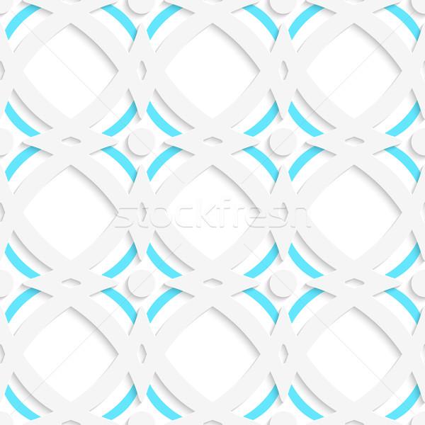 White rhombuses and blue ornament Stock photo © Zebra-Finch