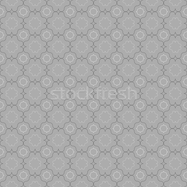 Gray ornament with slim gray and black eastern grid Stock photo © Zebra-Finch