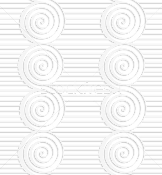 Paper white merging spirals on continues lines Stock photo © Zebra-Finch