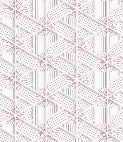白 3D 色 グリッド 赤 幾何学的な ストックフォト © Zebra-Finch