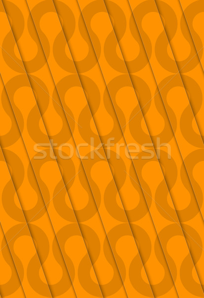 Retro 3D diagonal cut orange waves Stock photo © Zebra-Finch