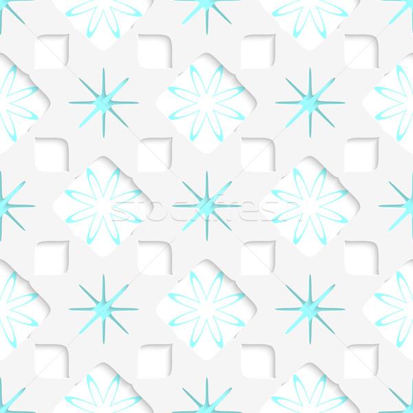 Fehér hópelyhek kék belső alkatrészek végtelenített Stock fotó © Zebra-Finch