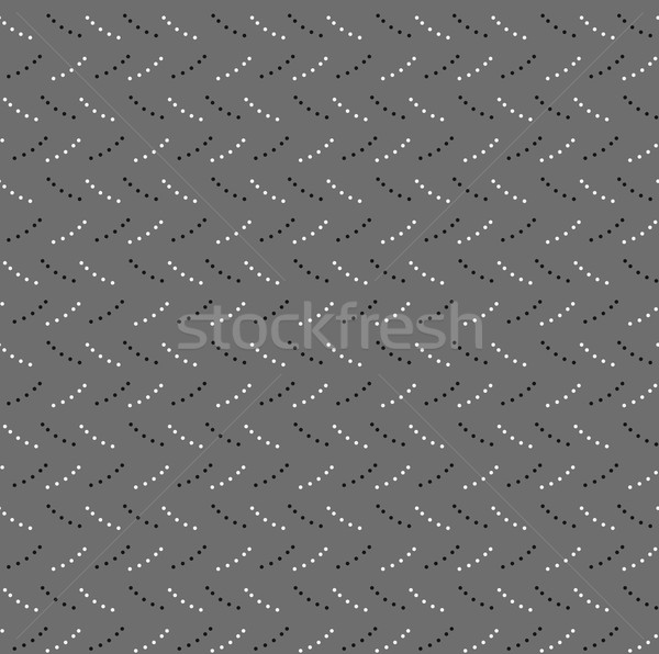 Monochrome pattern with gray and black dotted short lines on gra Stock photo © Zebra-Finch
