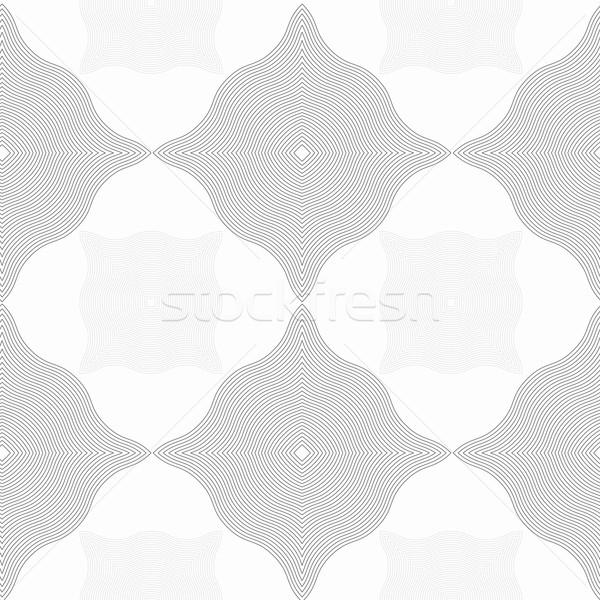 Monochrome pattern with light and dark gray wavy guilloche squar Stock photo © Zebra-Finch