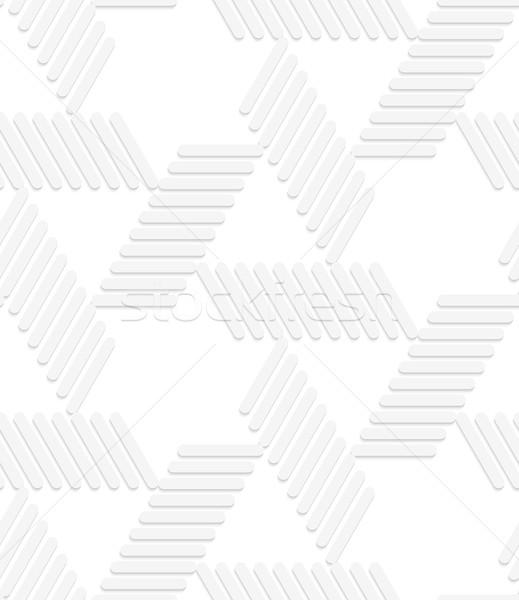 3D white striped blocks forming triangles Stock photo © Zebra-Finch