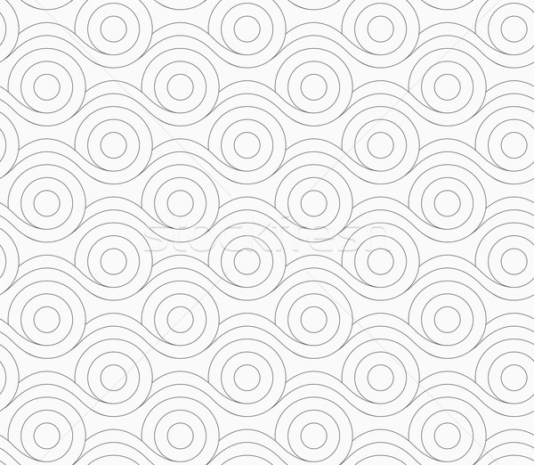 Gray circles merging with wavy lines Stock photo © Zebra-Finch