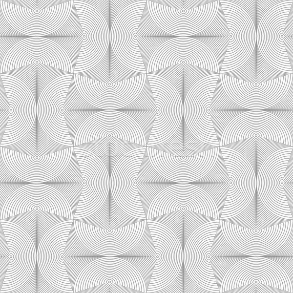 Slim gray striped semi circles with neck Stock photo © Zebra-Finch