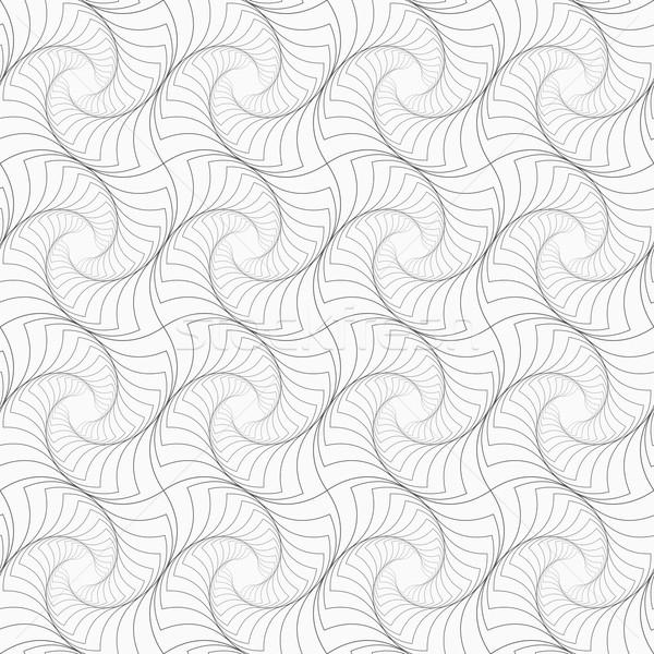 Slim gray striped twisted squares Stock photo © Zebra-Finch