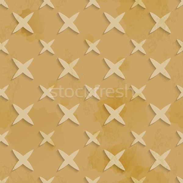 Brown recycling paper stars seamless pattern Stock photo © Zebra-Finch