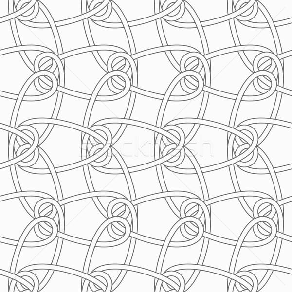 Slim gray vertical interlocking ornament Stock photo © Zebra-Finch