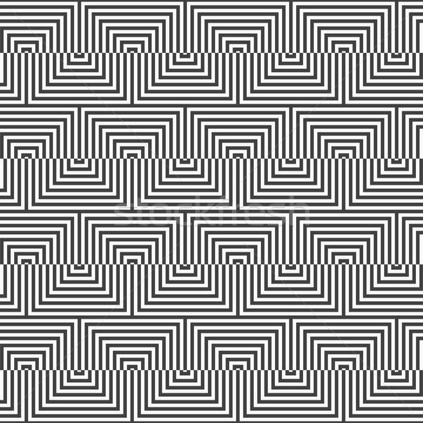 Siyah beyaz üçgen zikzak geometrik Stok fotoğraf © Zebra-Finch