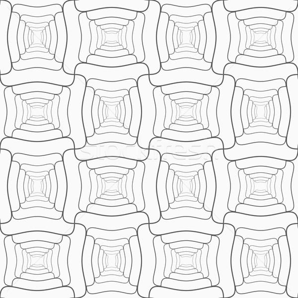 Slim gray offset rounded triangles Stock photo © Zebra-Finch