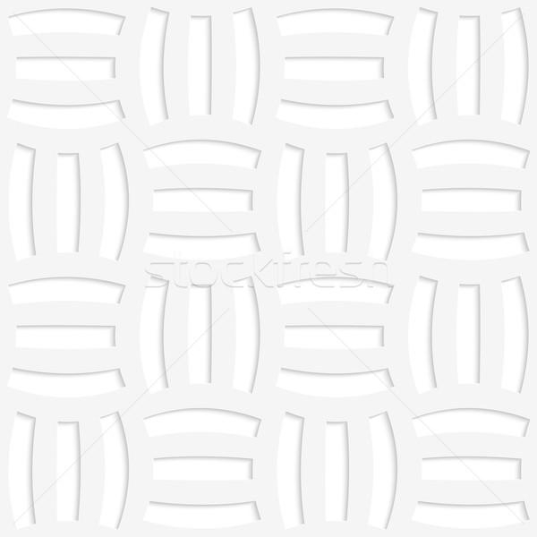 白 紙 3D 3  幾何学的な ストックフォト © Zebra-Finch