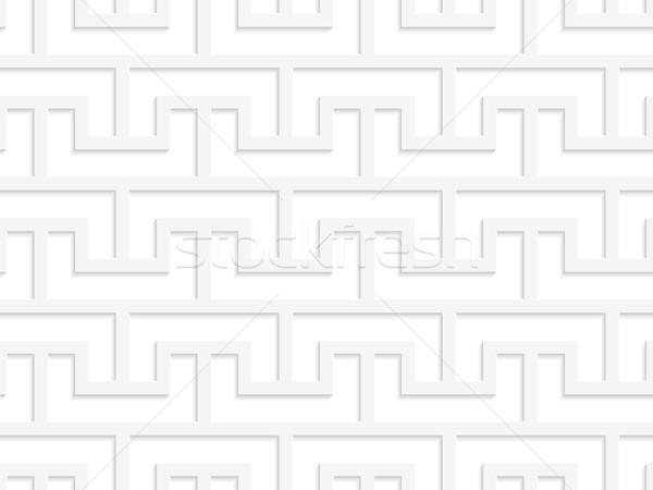白 3D グリッド 幾何学的な 現代 モノクロ ストックフォト © Zebra-Finch
