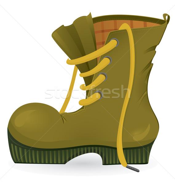 Podróży buty biały skóry Zdjęcia stock © Zebra-Finch