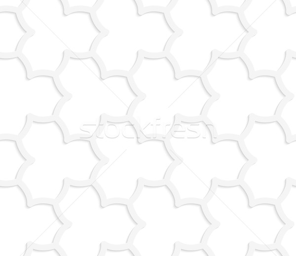 3D white abstract geometrical pointy flower grid Stock photo © Zebra-Finch