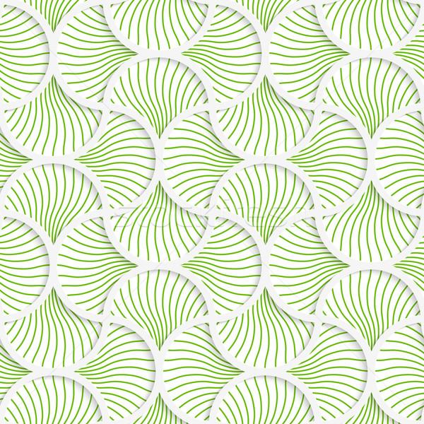 3D green wavy striped pin will grid Stock photo © Zebra-Finch